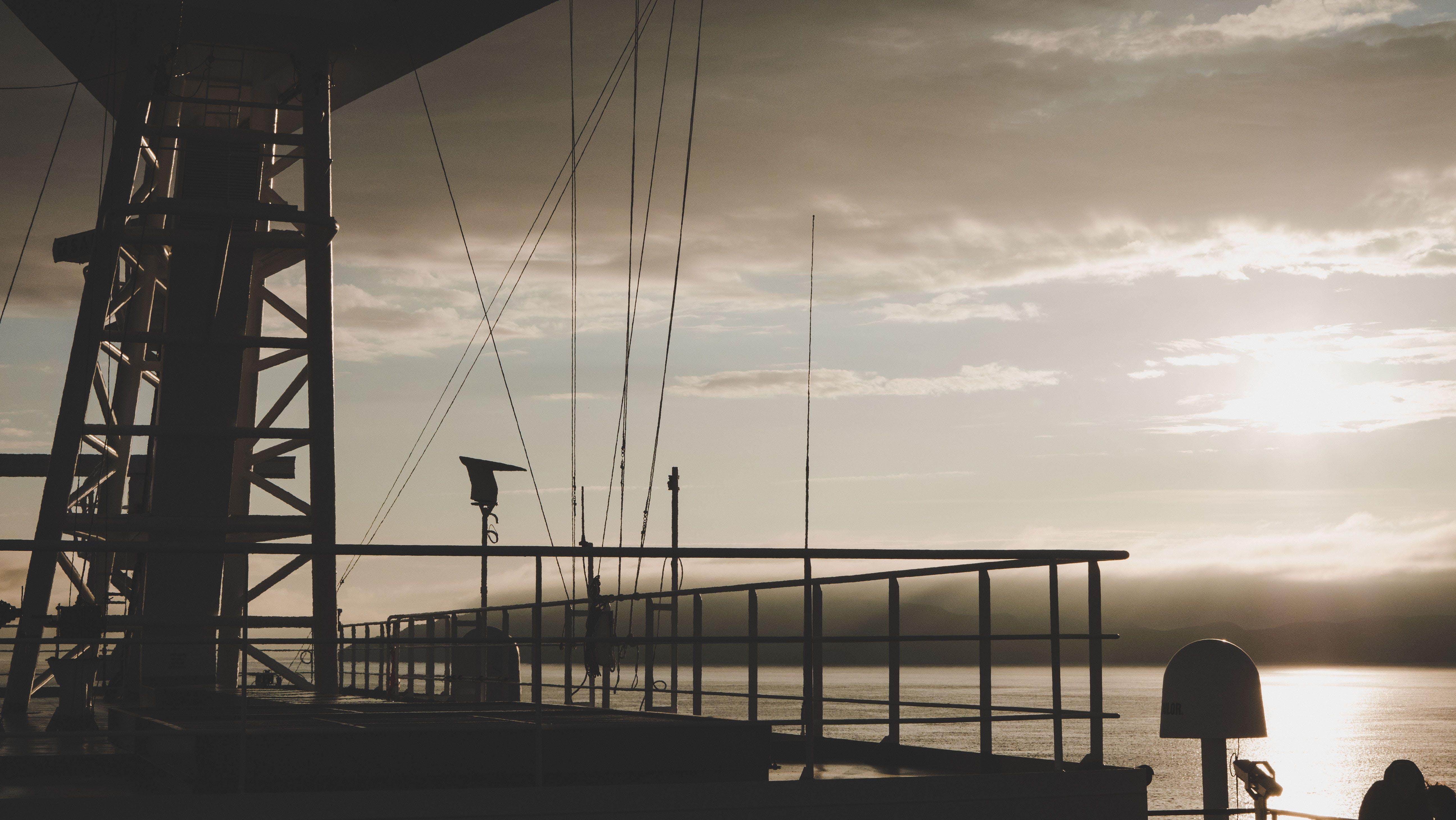 Free stock photo of cargo ship, sailing