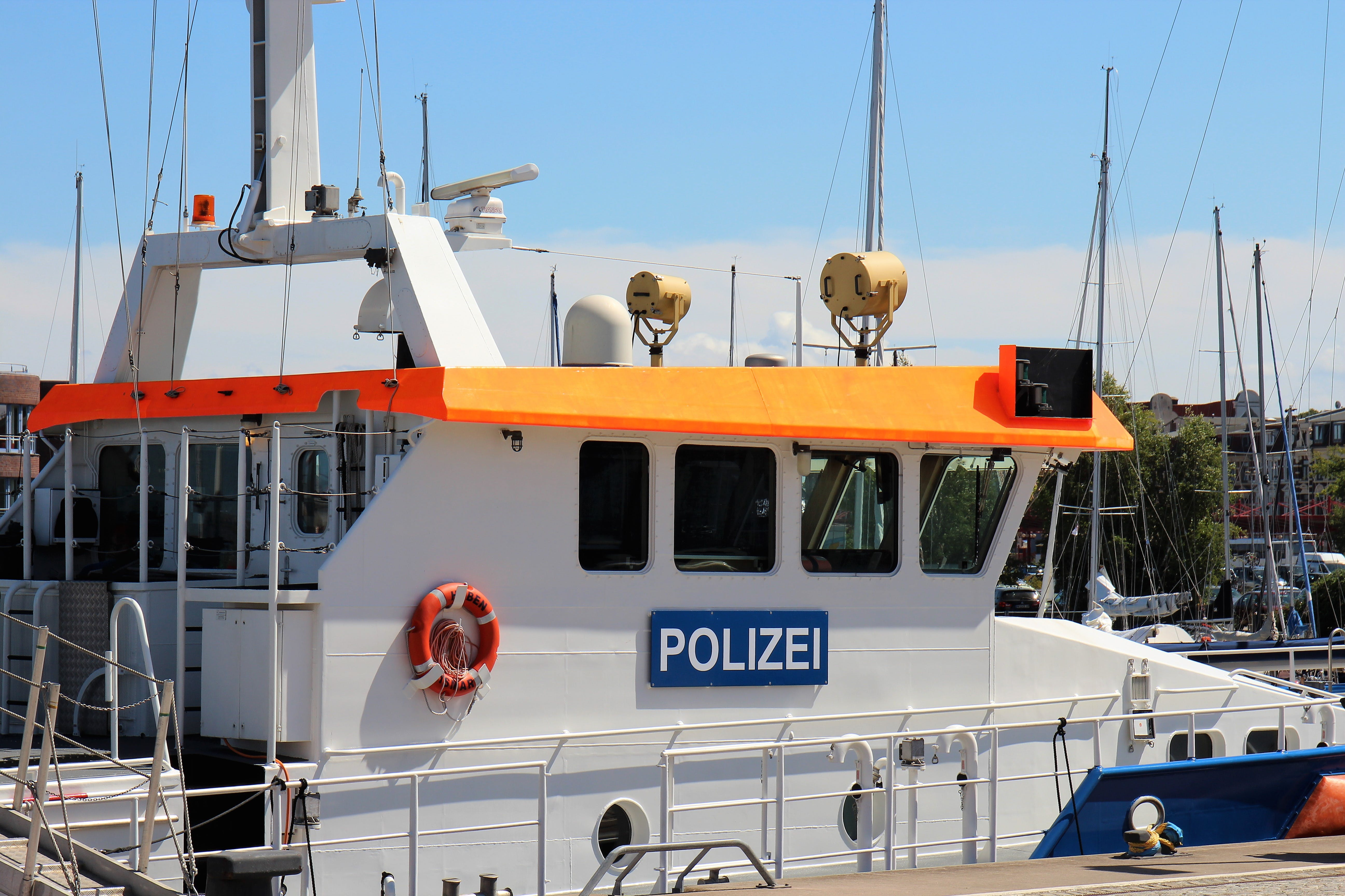 Free stock photo of boat, ship, police