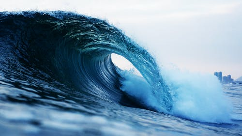 Photography of Barrel Wave