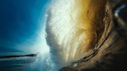 Darmowe zdjęcie z galerii z fala, fala surfingu, machać, morze