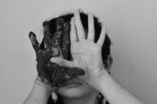 Free stock photo of black and white, blind, child, cry