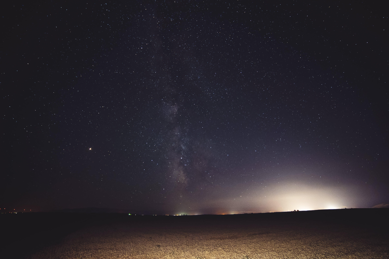 Free stock photo of astrophotography, city lights, dark, landscape