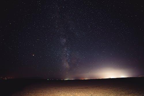 buğday, buğday tarlası, gece, gök mavisi içeren Ücretsiz stok fotoğraf