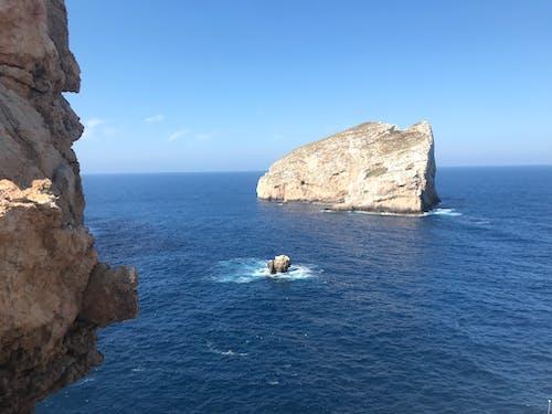 Free stock photo of cliff coast, mediterranean sea, nature, rock