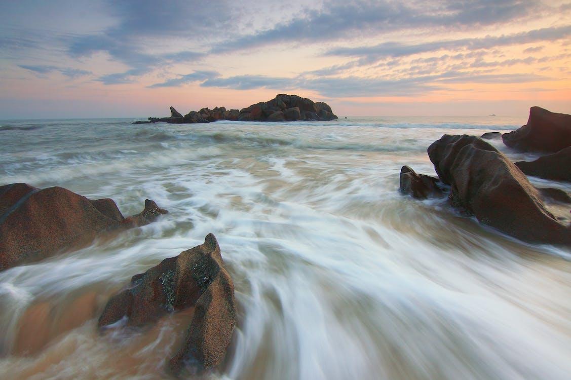 HD tapeta, kameny, moře