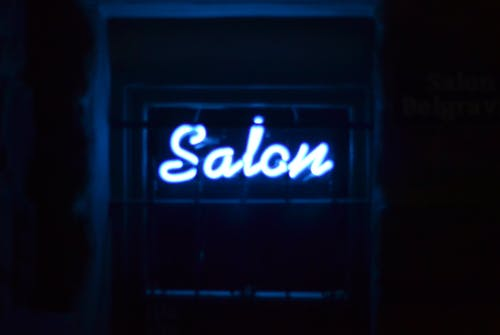 Free stock photo of neon sign, salon