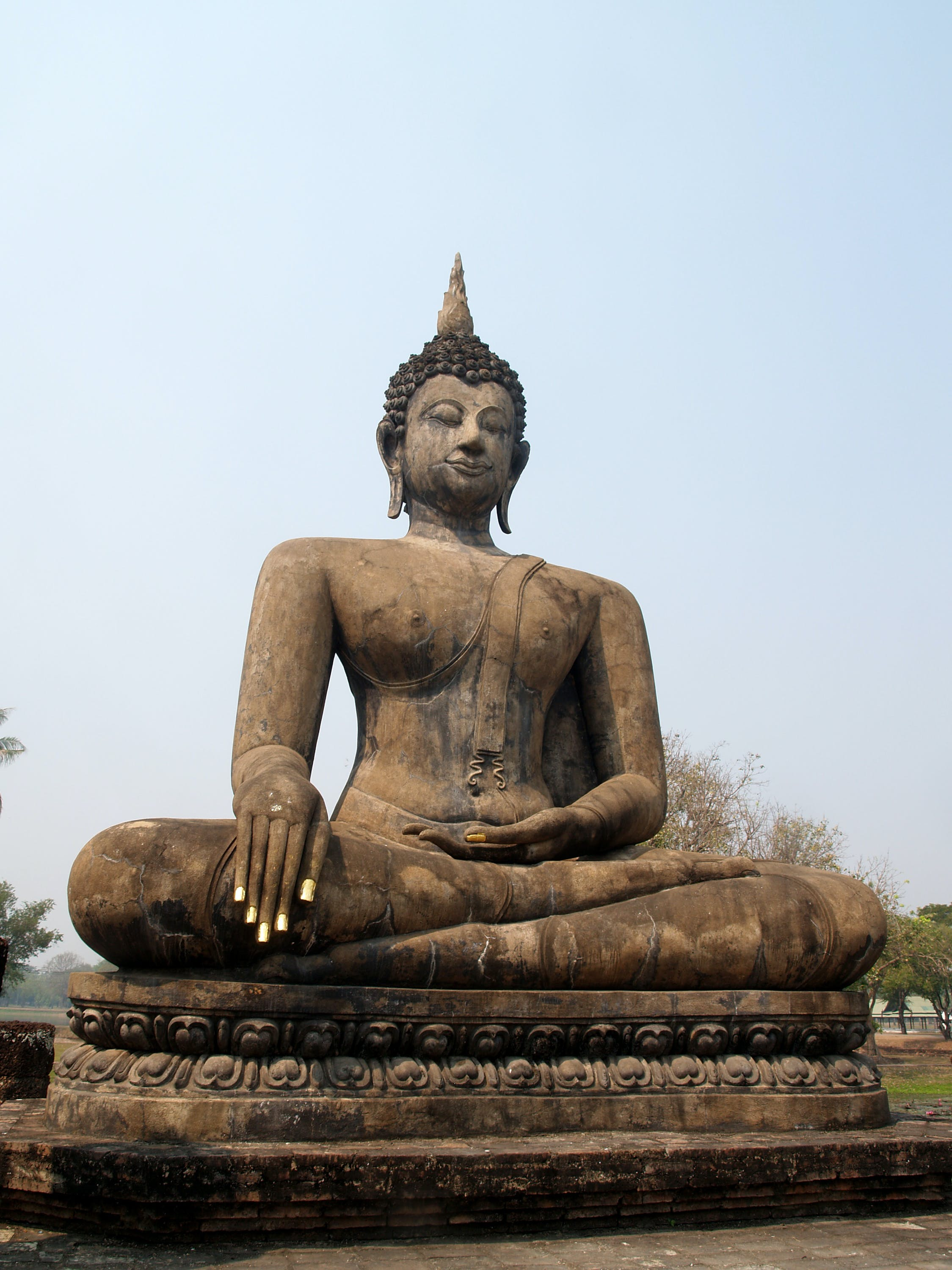 Brown Sitting Budha Statue Under Blue Sky