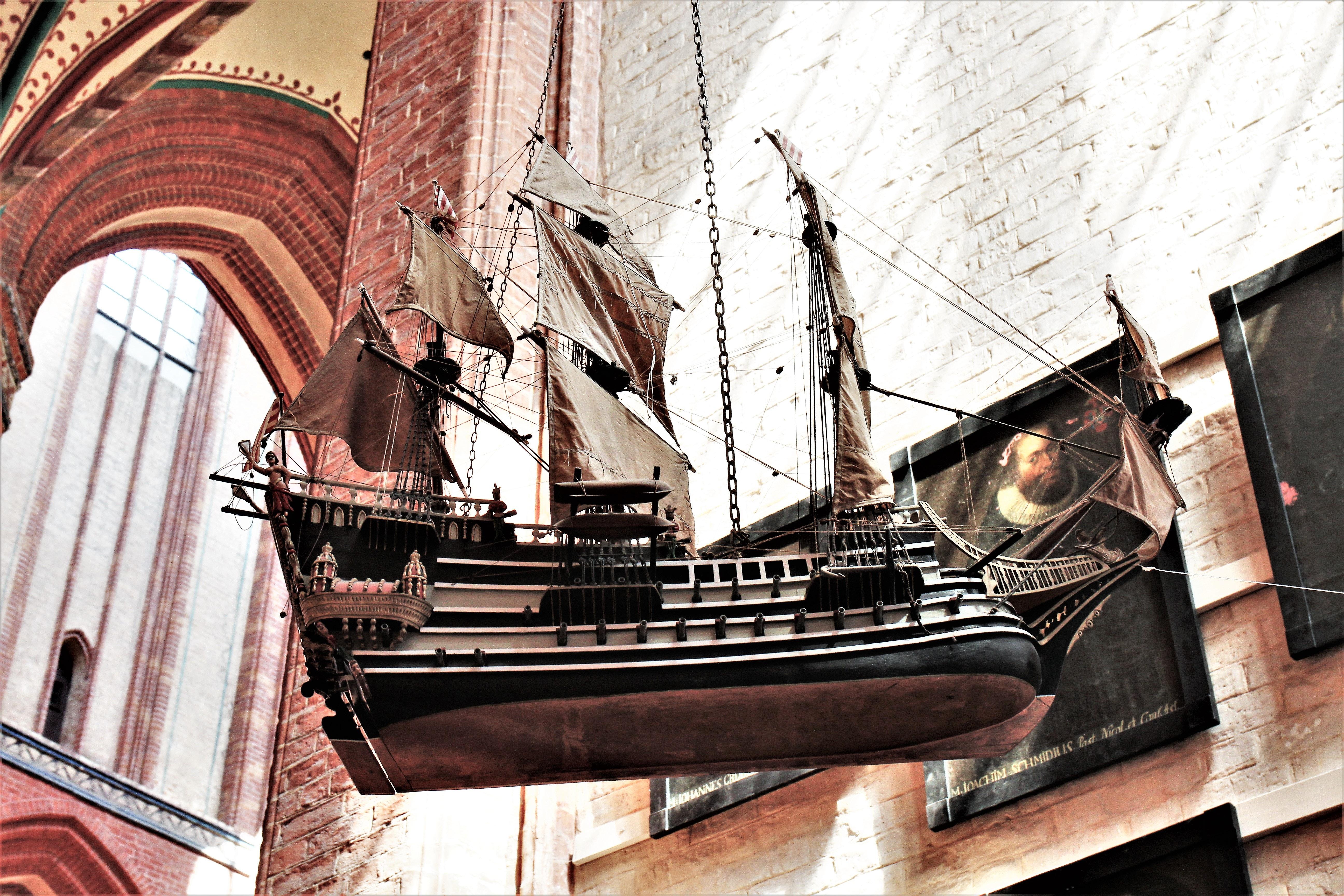 Free stock photo of 3d model, sailing ship