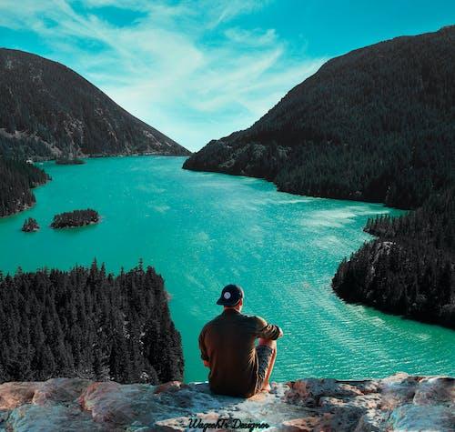 คลังภาพถ่ายฟรี ของ การผจญภัย, ชาย, ต้นไม้, ทะเล
