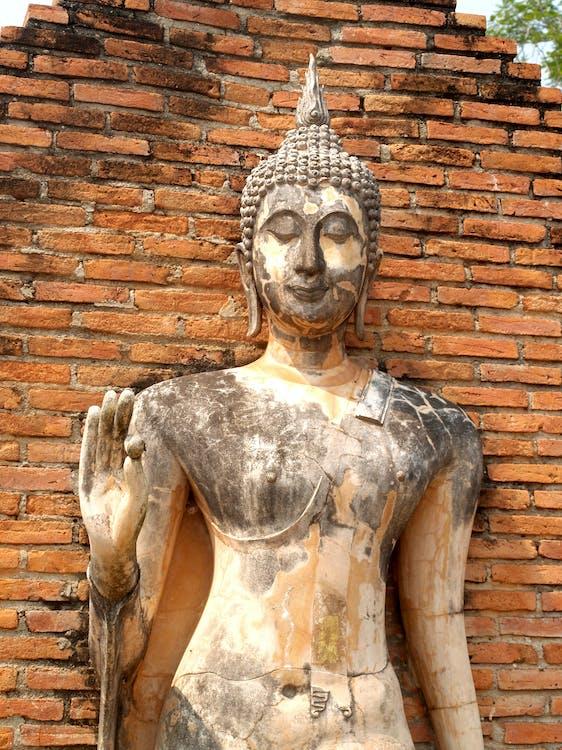 architektura, ayutthaya, azja