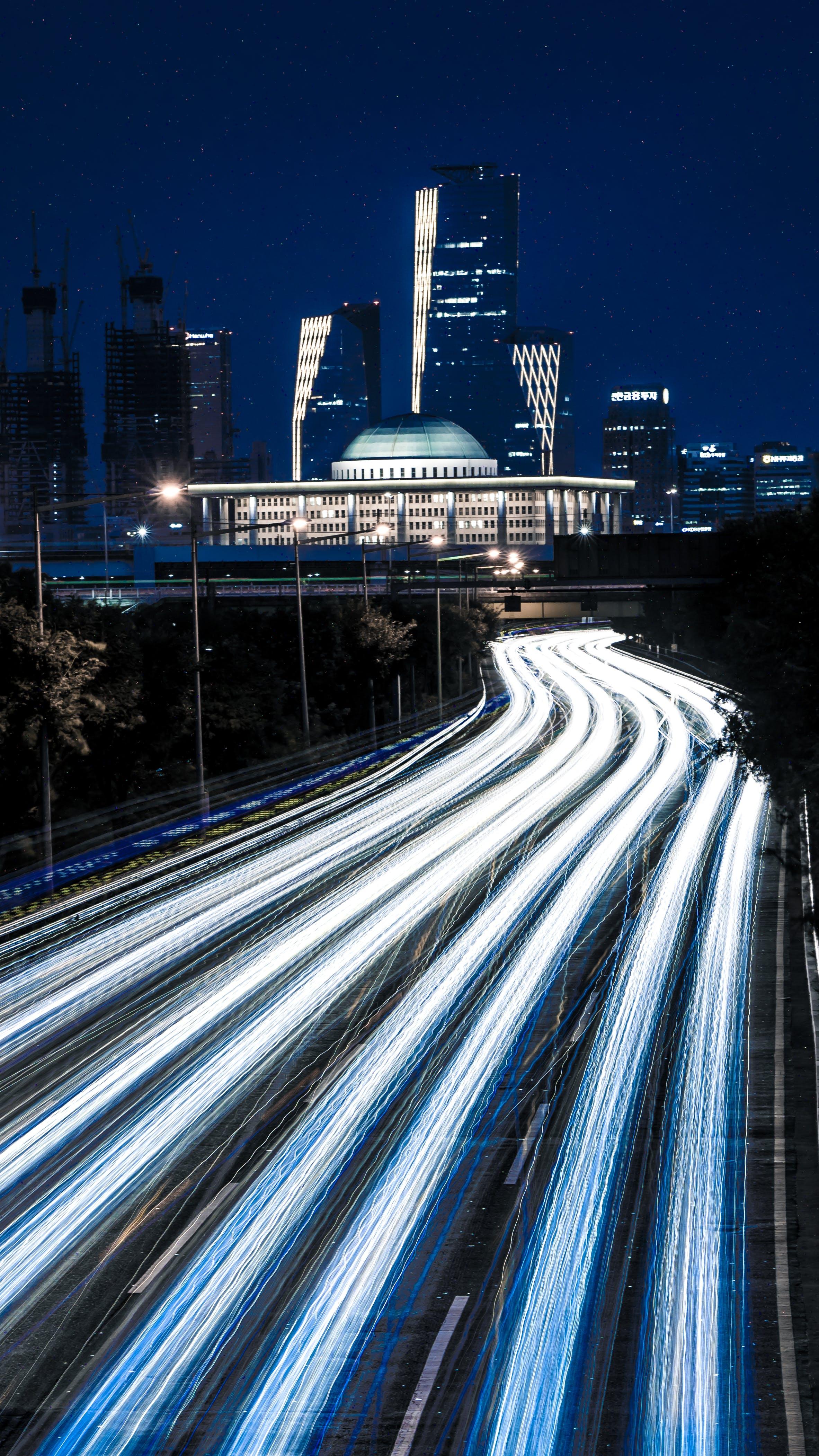 Long Exposure Photo of Road