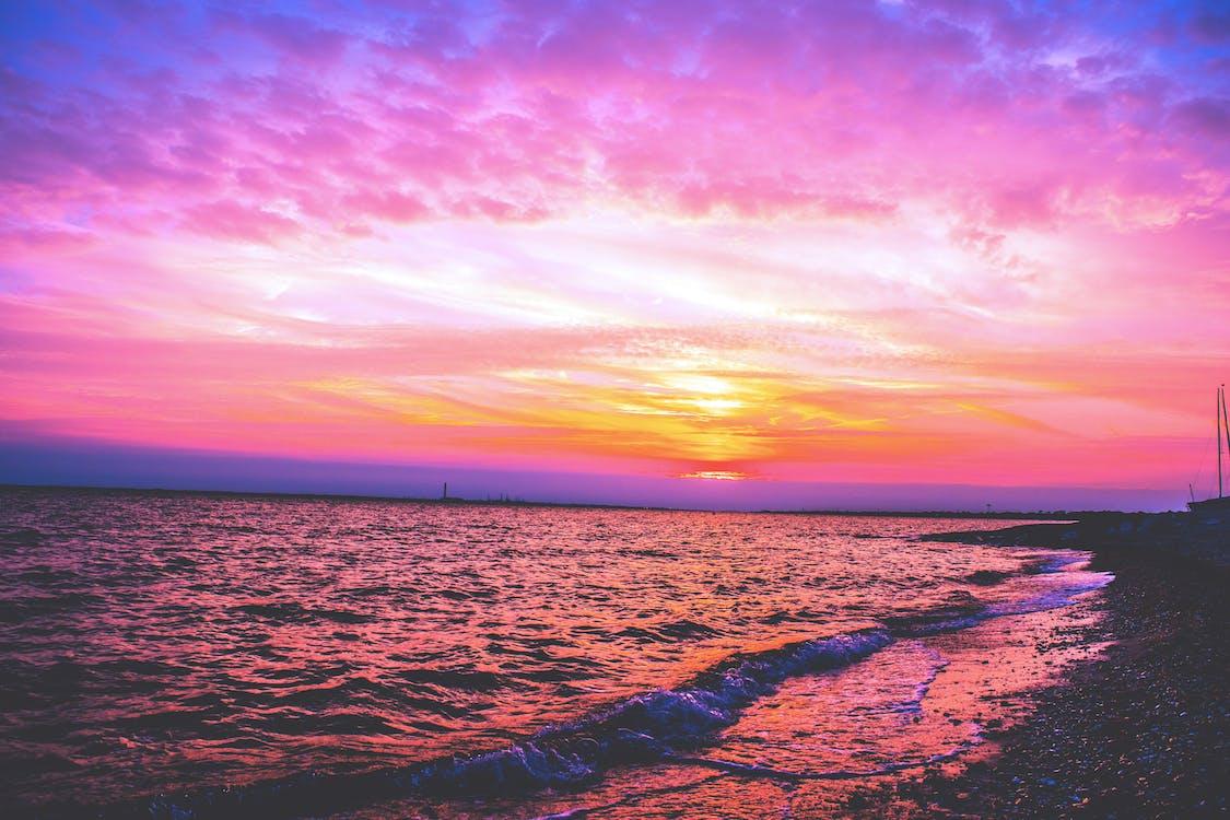 daggry, gylden time, hav