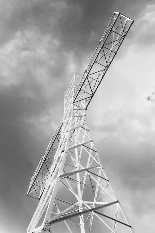 Základová fotografie zdarma na téma černobílá, černobílý, perspektiva, věž