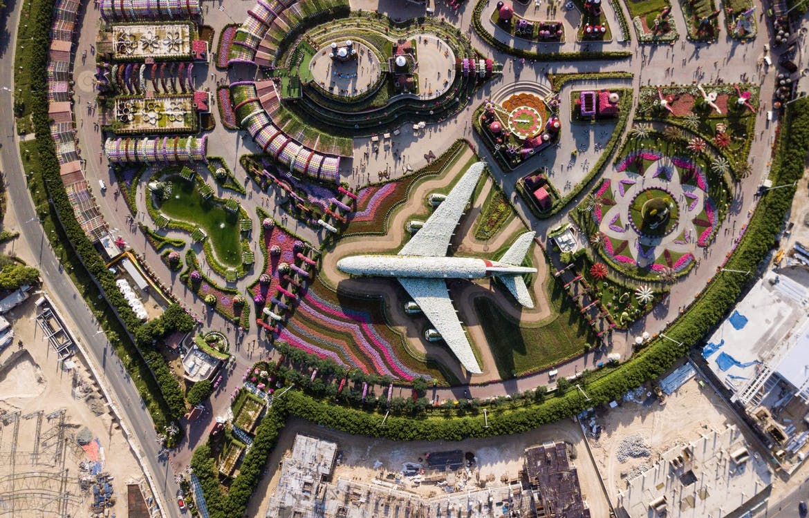Aerial Photography of Park With Airplane