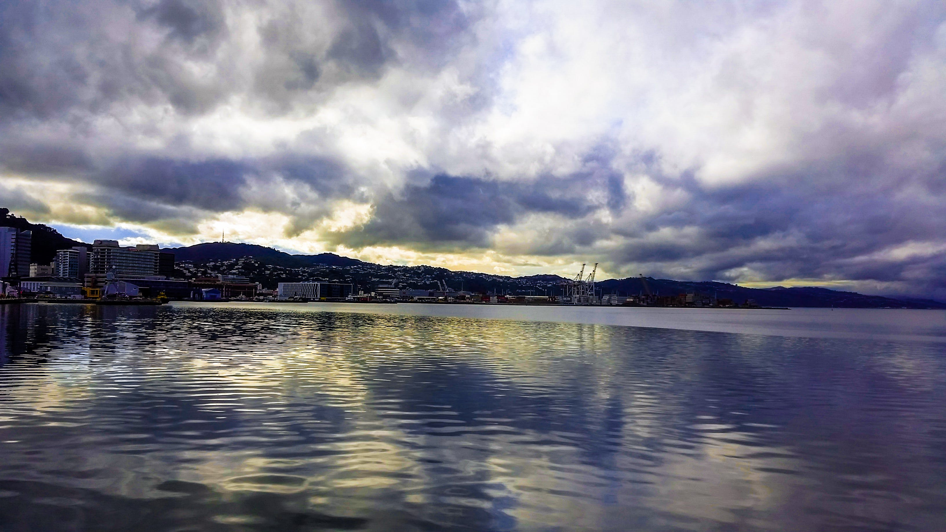 Free stock photo of by the sea, city, clouds, cloudy