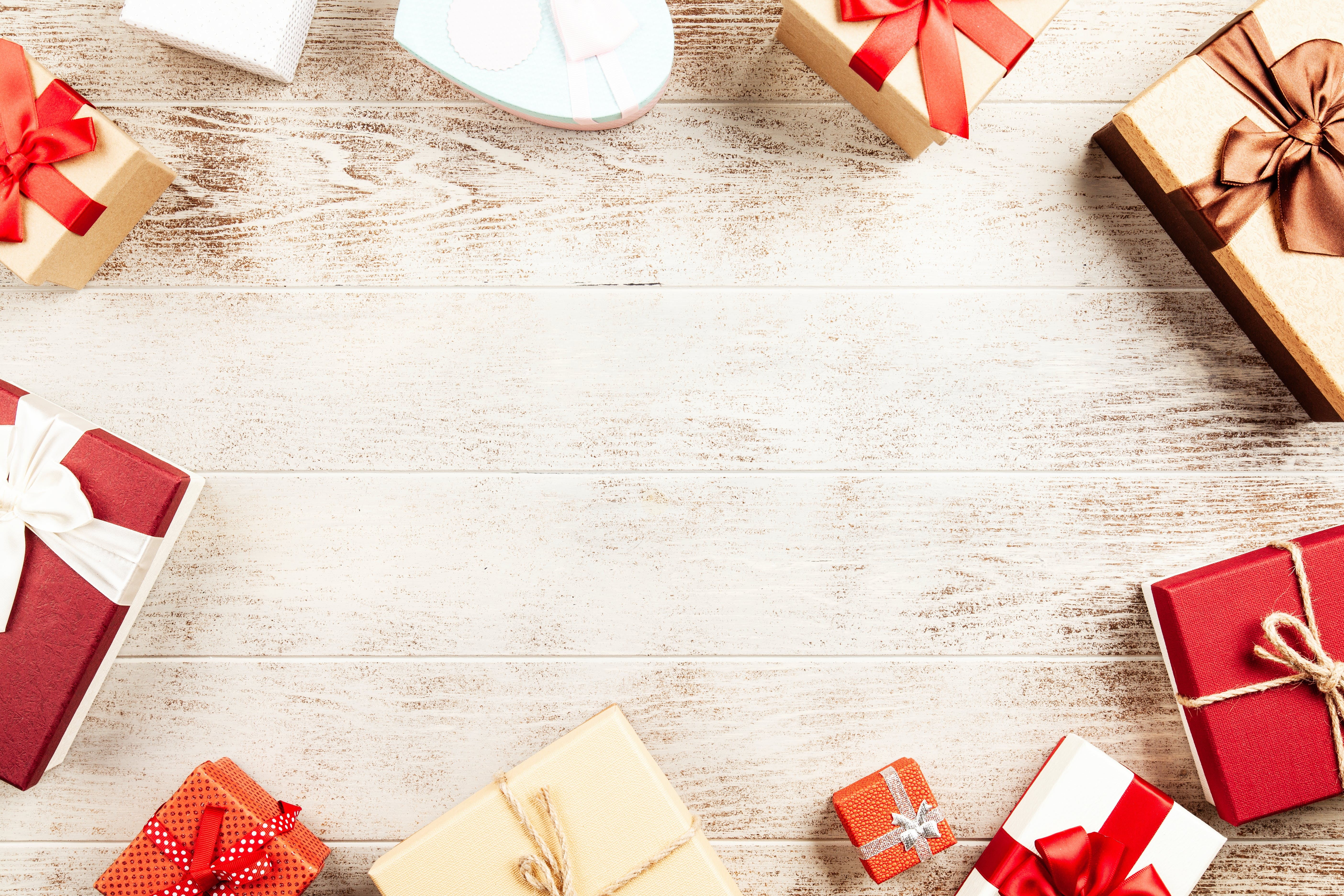 Flat-lay Photography of Present Boxes