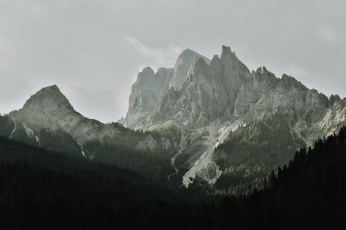 Closeup Photo of Mountain Peak