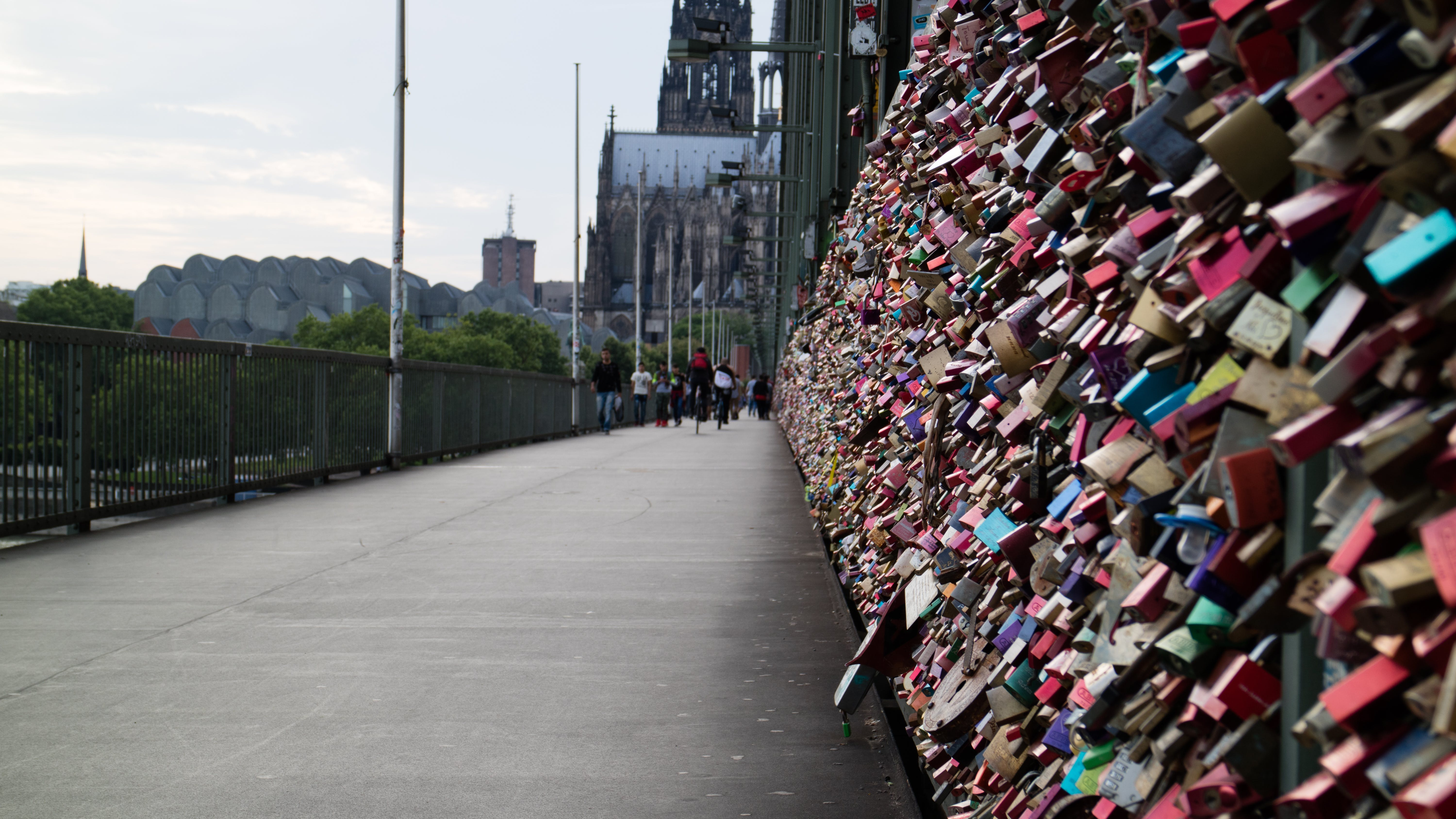 Free stock photo of bridge, cathedral, cologne, cologne cathedral