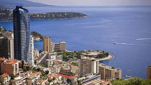 スカイライン, モナコ, 海, 船での無料の写真素材
