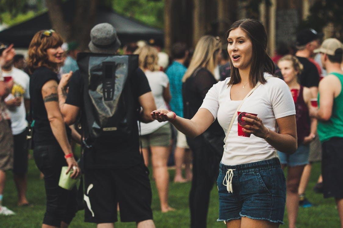 festival, frauen, kleidung