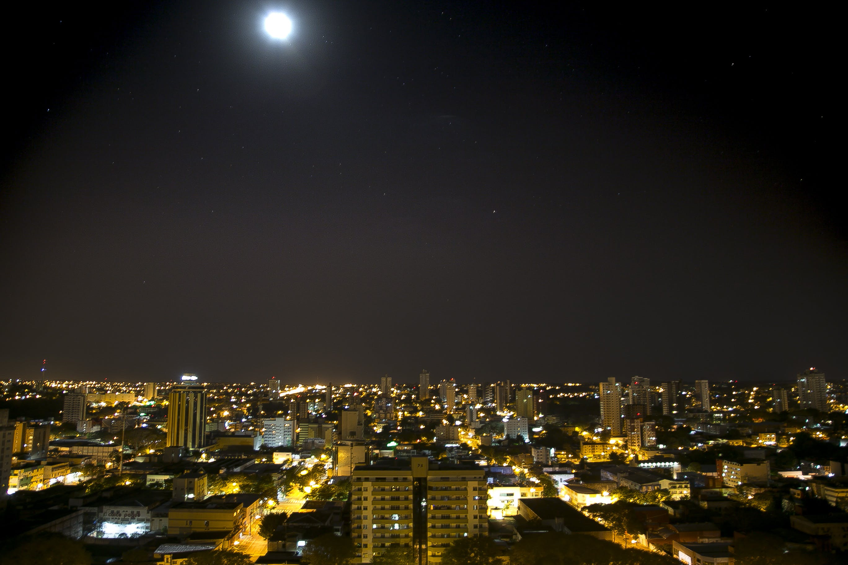 Free stock photo of city, foz do iguaçu, night, skyline