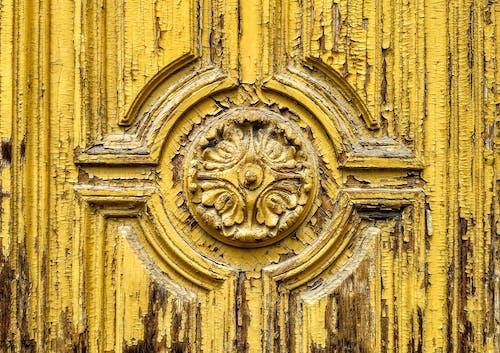 Foto stok gratis Arsitektur, gerbang, kuning, lapuk