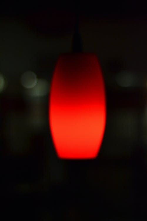 Free stock photo of Pendant Light, red light