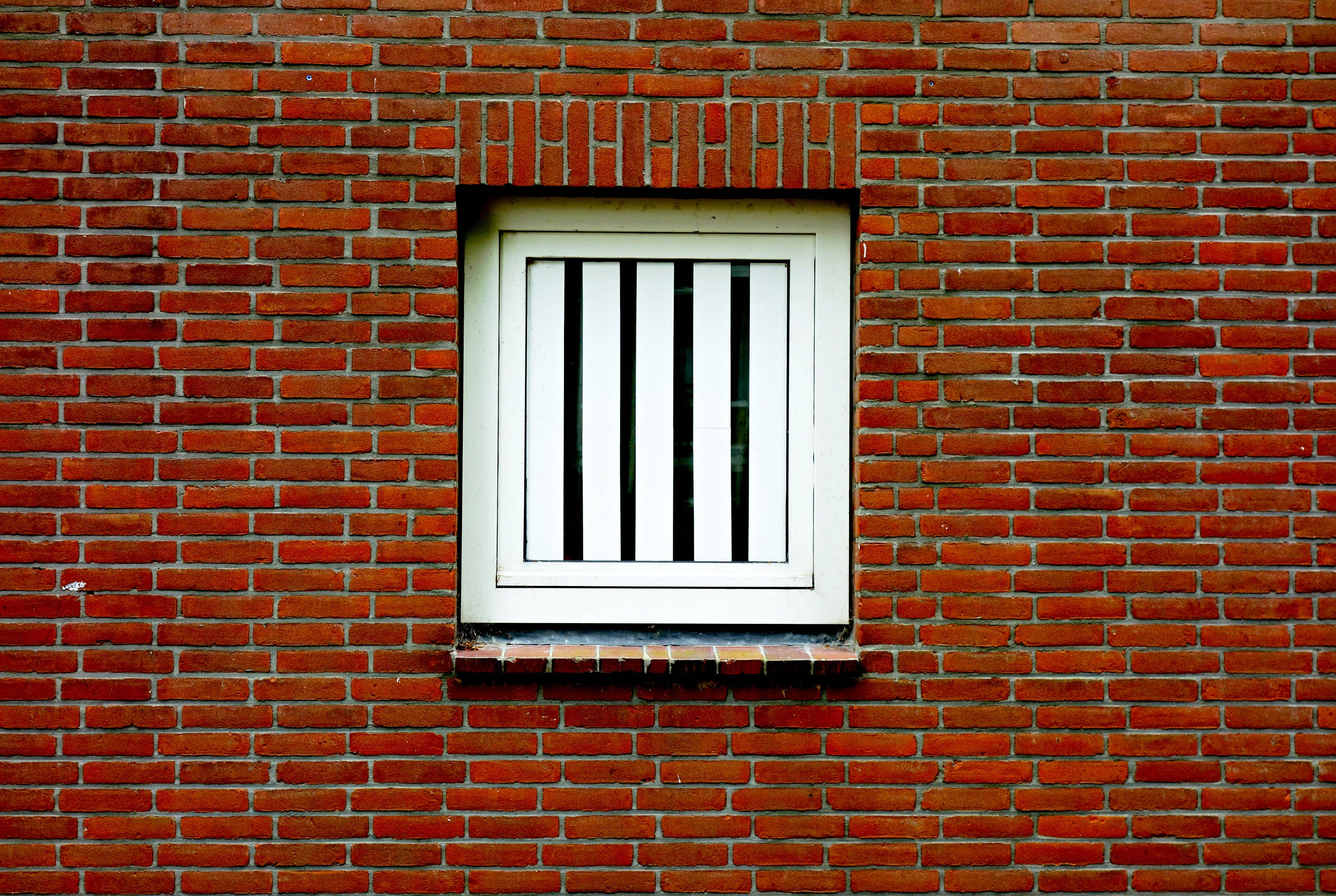 of house, house window, red brick, red brick wall