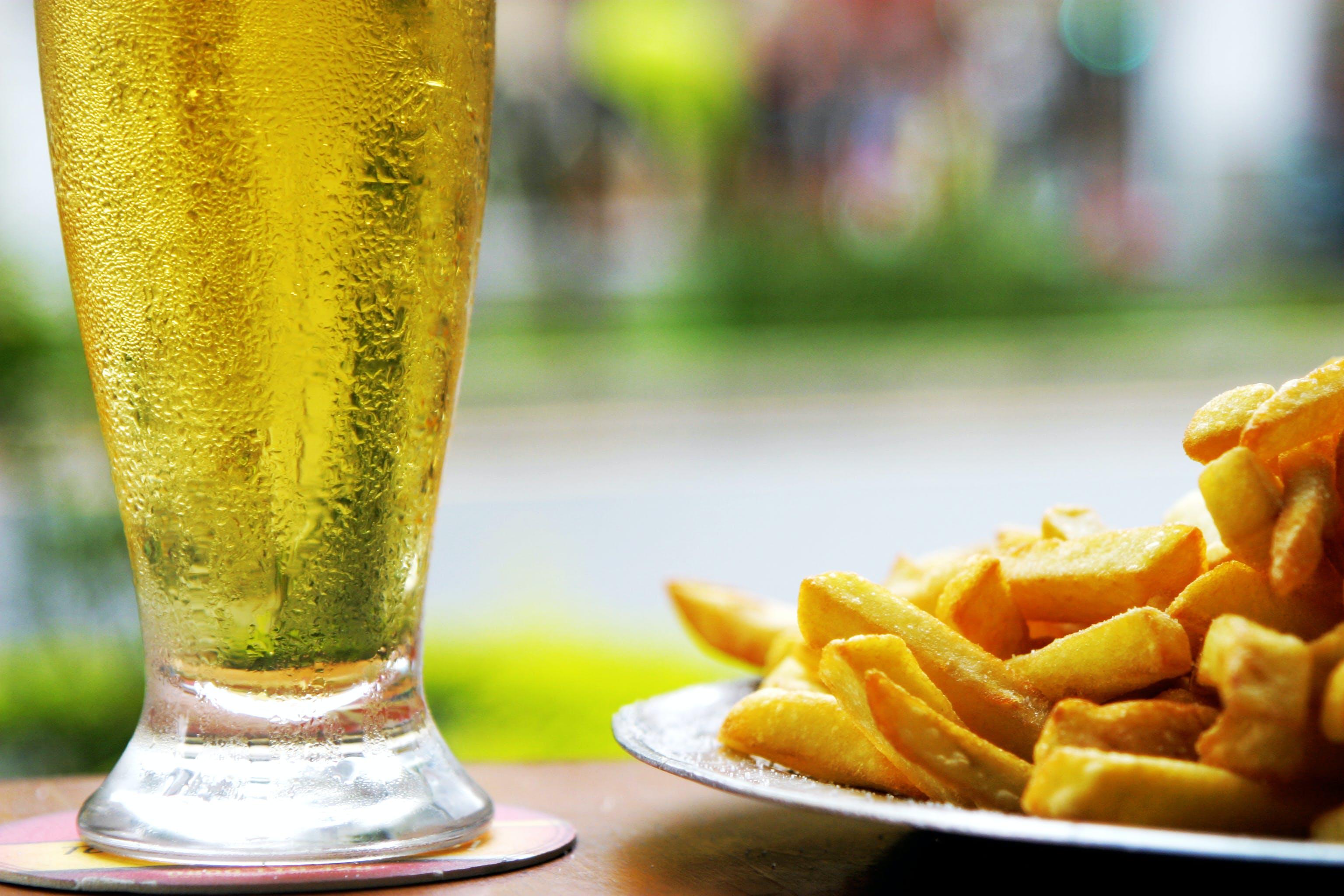 Free stock photo of beer, fried, potato, potatoes