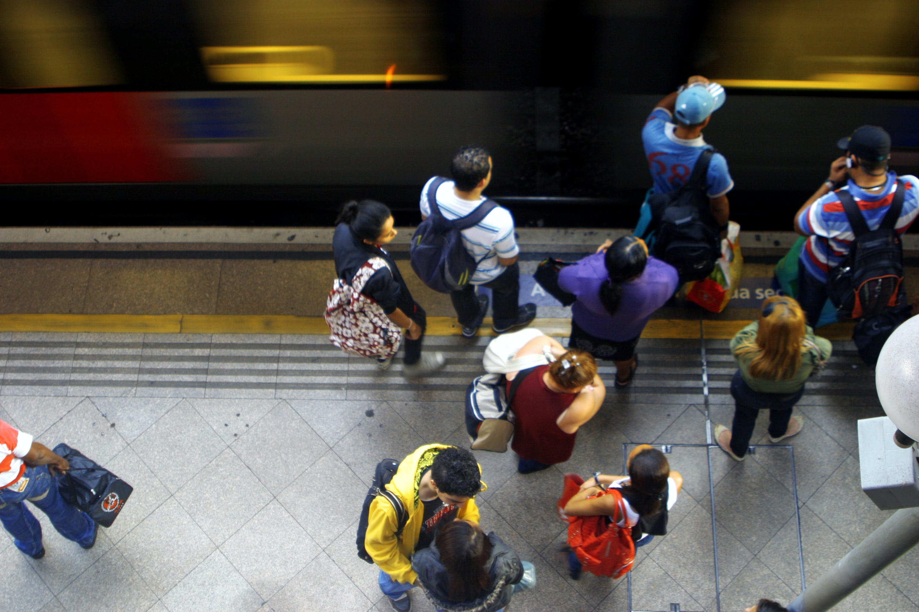 Free stock photo of brazil, holding, metro, people