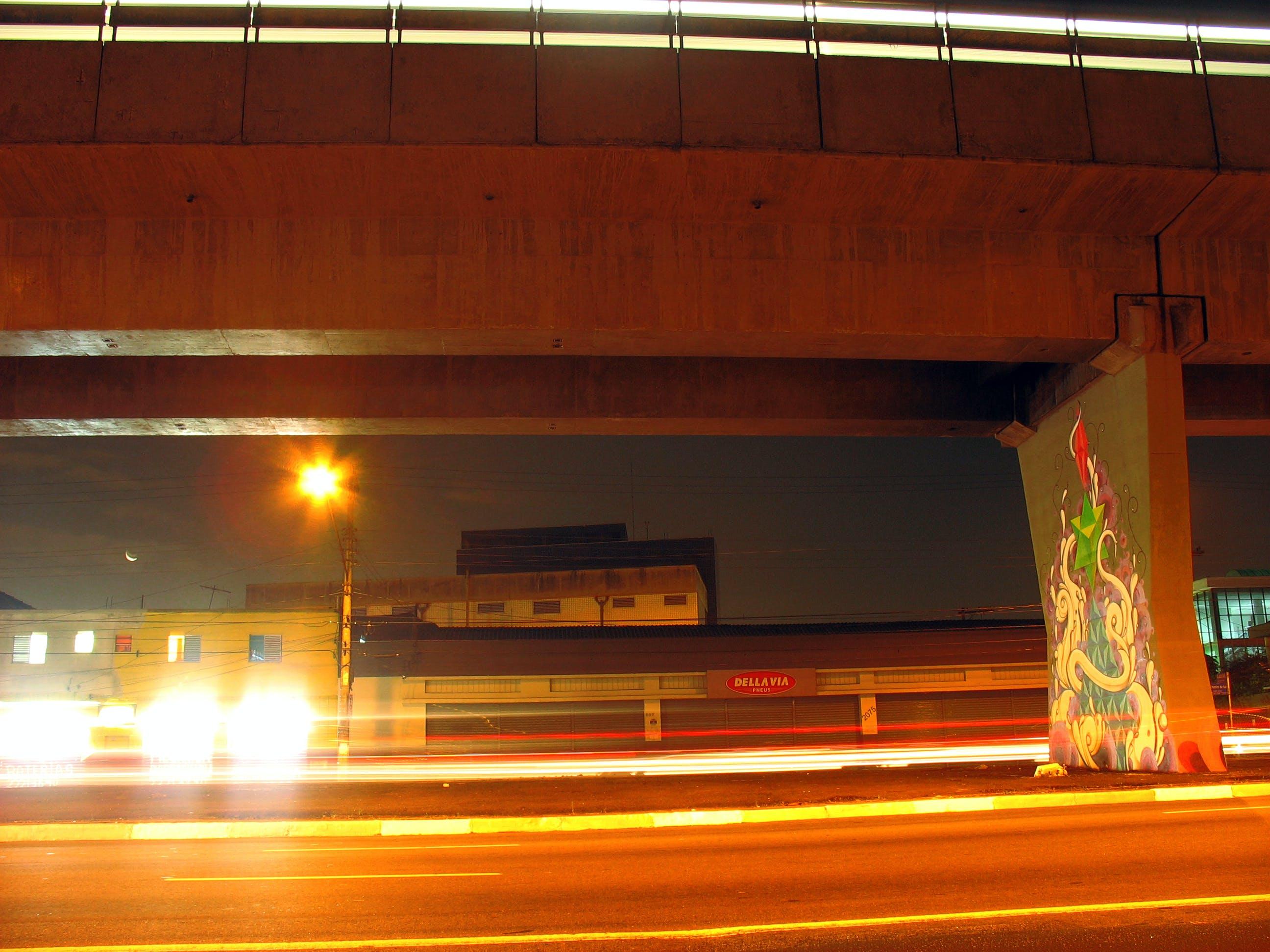Free stock photo of bridge, car lights, pit, sao paulo