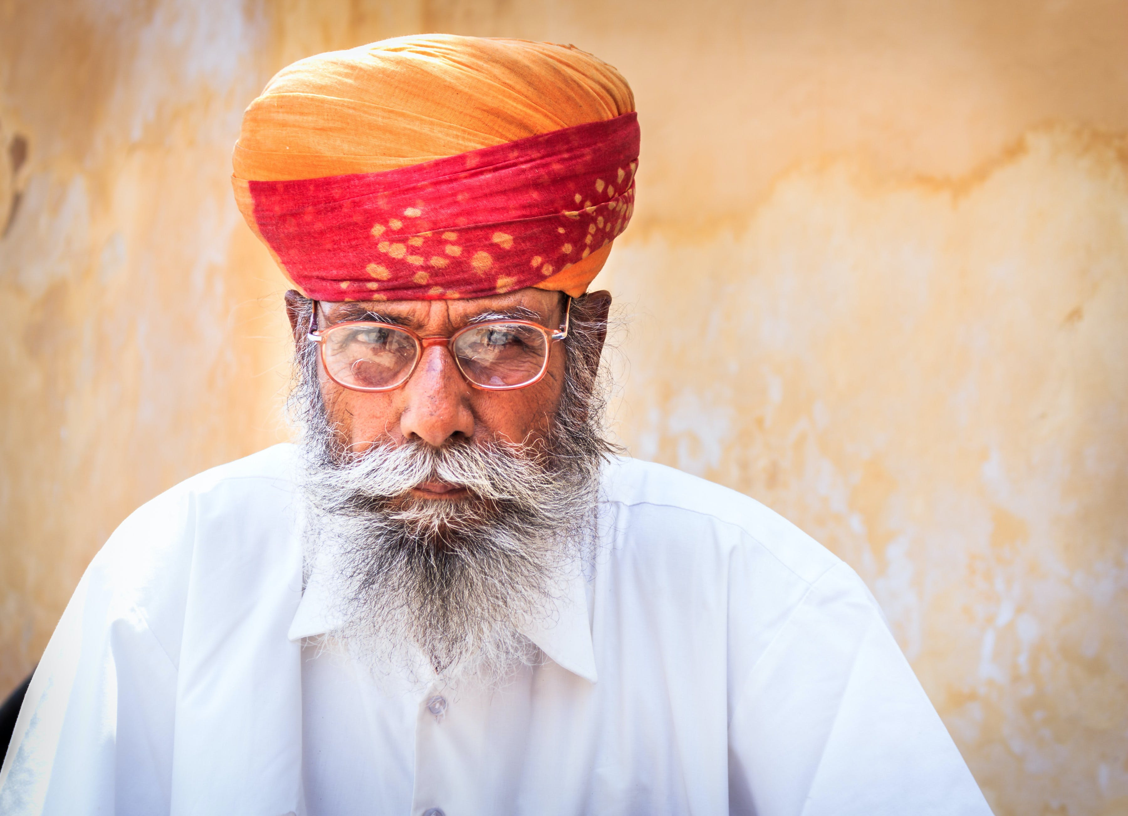 Free stock photo of color, colorful, india, old man