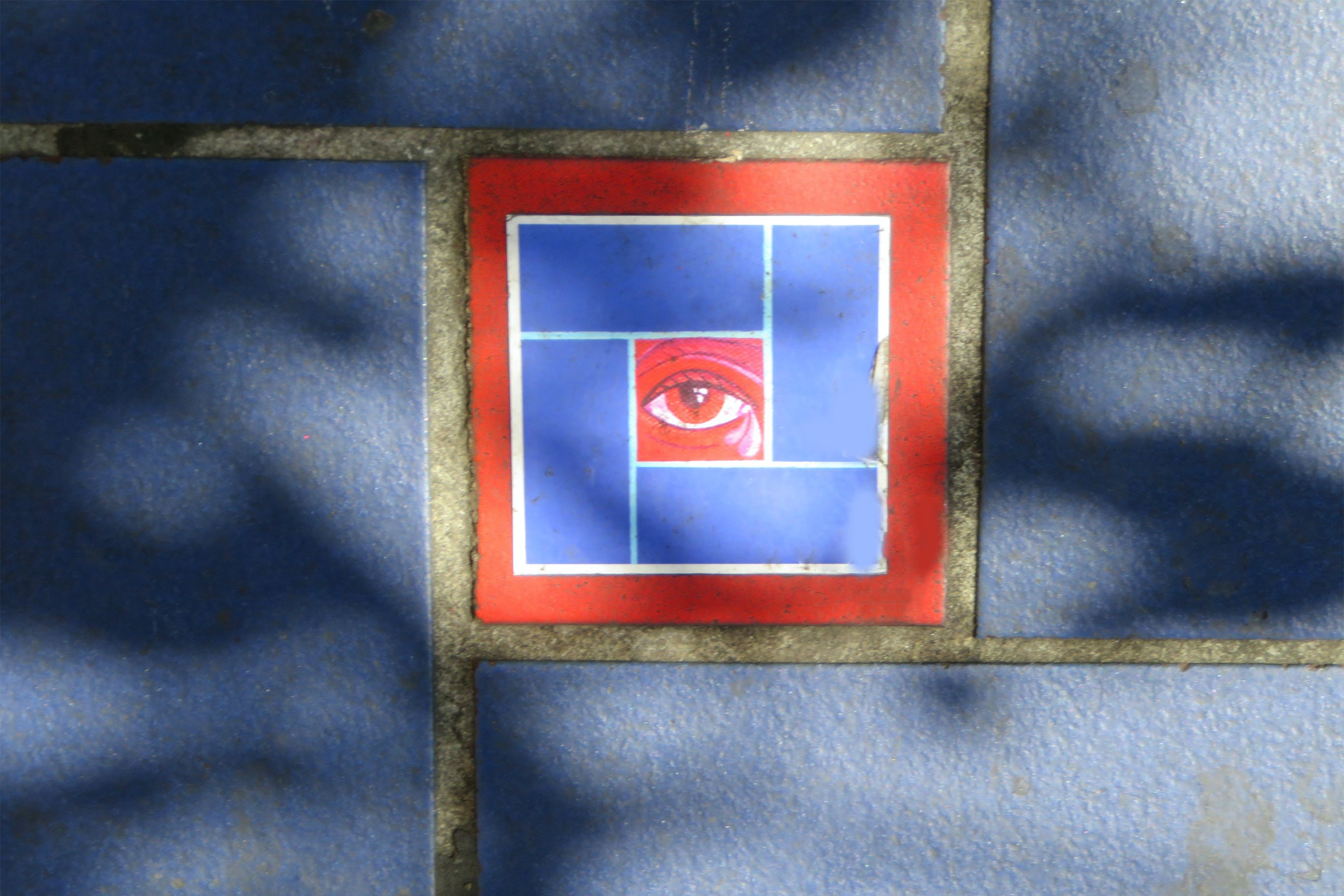 Free stock photo of red, blue, wall, eye