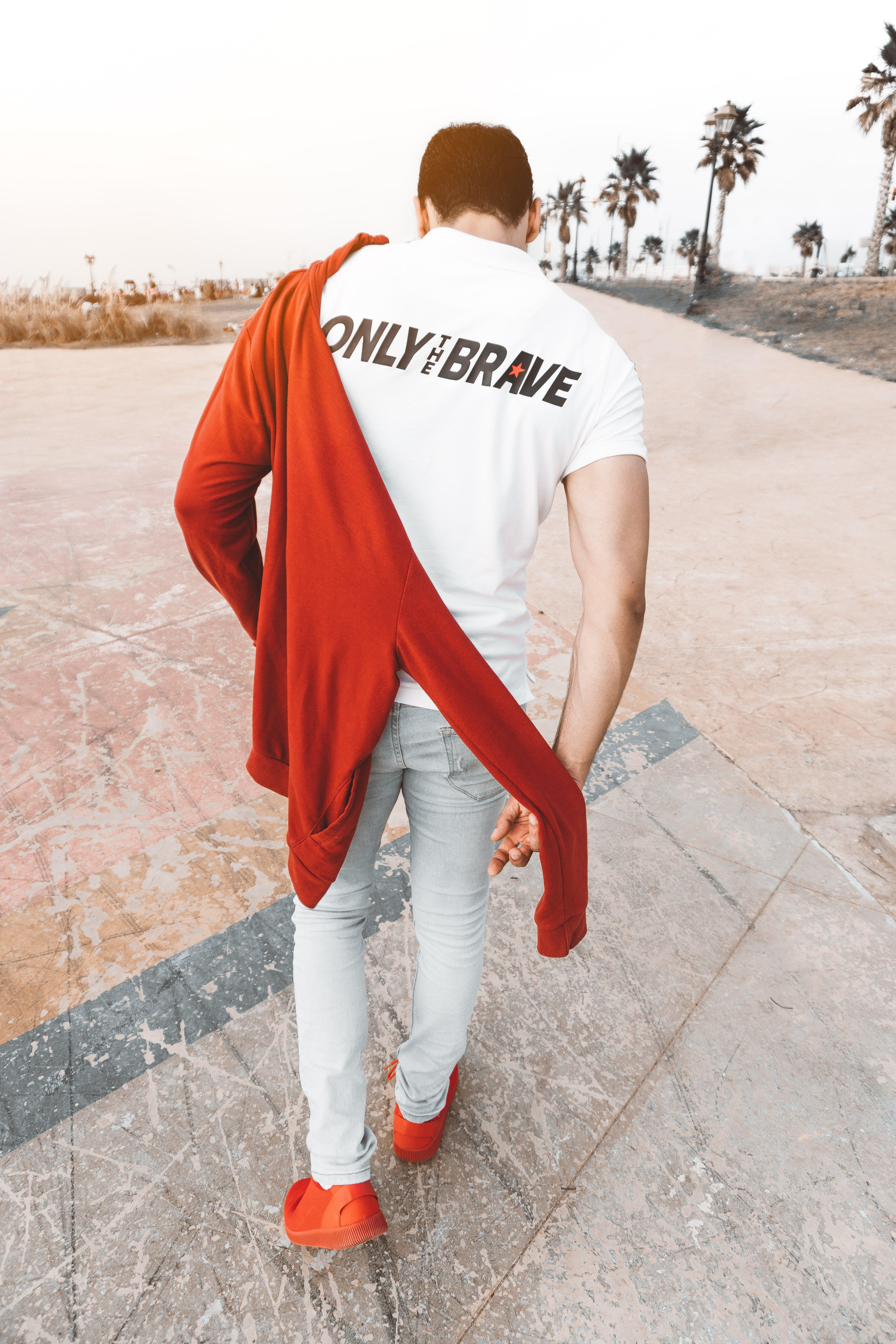 Man Wearing White Shirt Walking