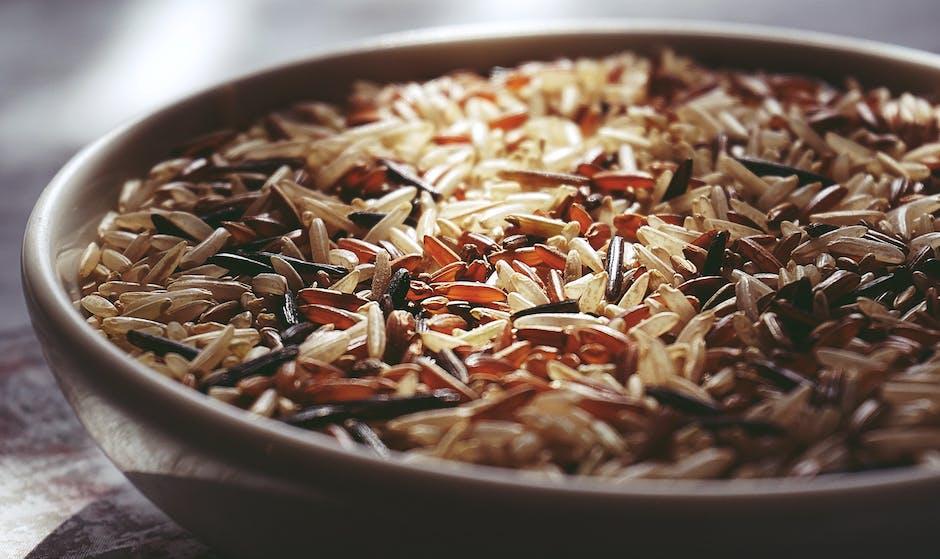 Rice in White Ceramic Bowl