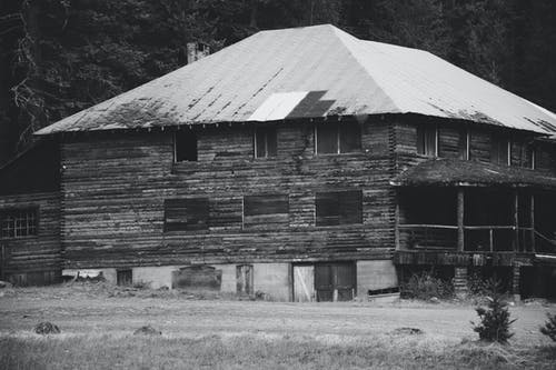 Free stock photo of abandoned building, building, lodge