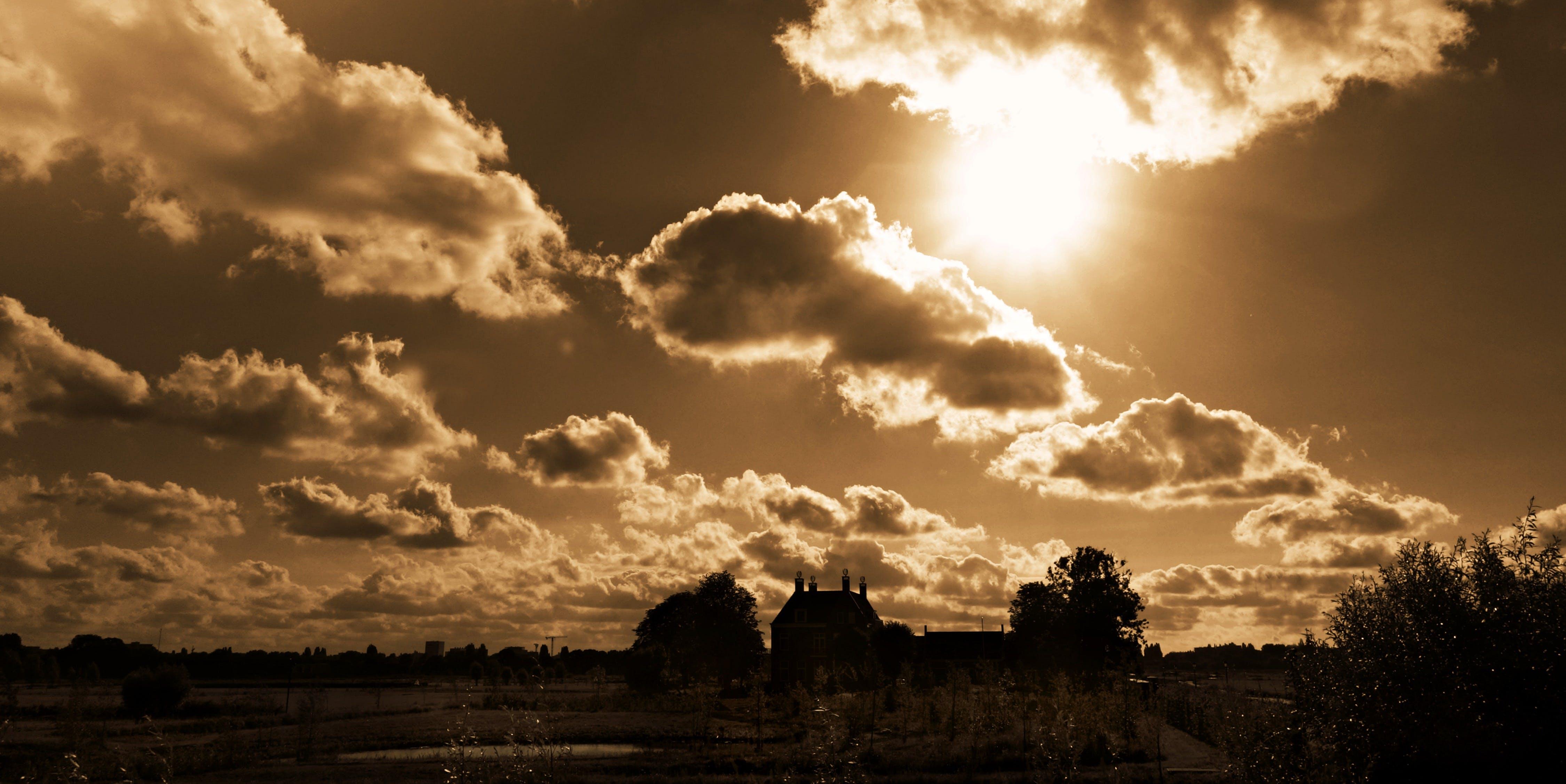 of clouds, clouds sky, golden, heaven