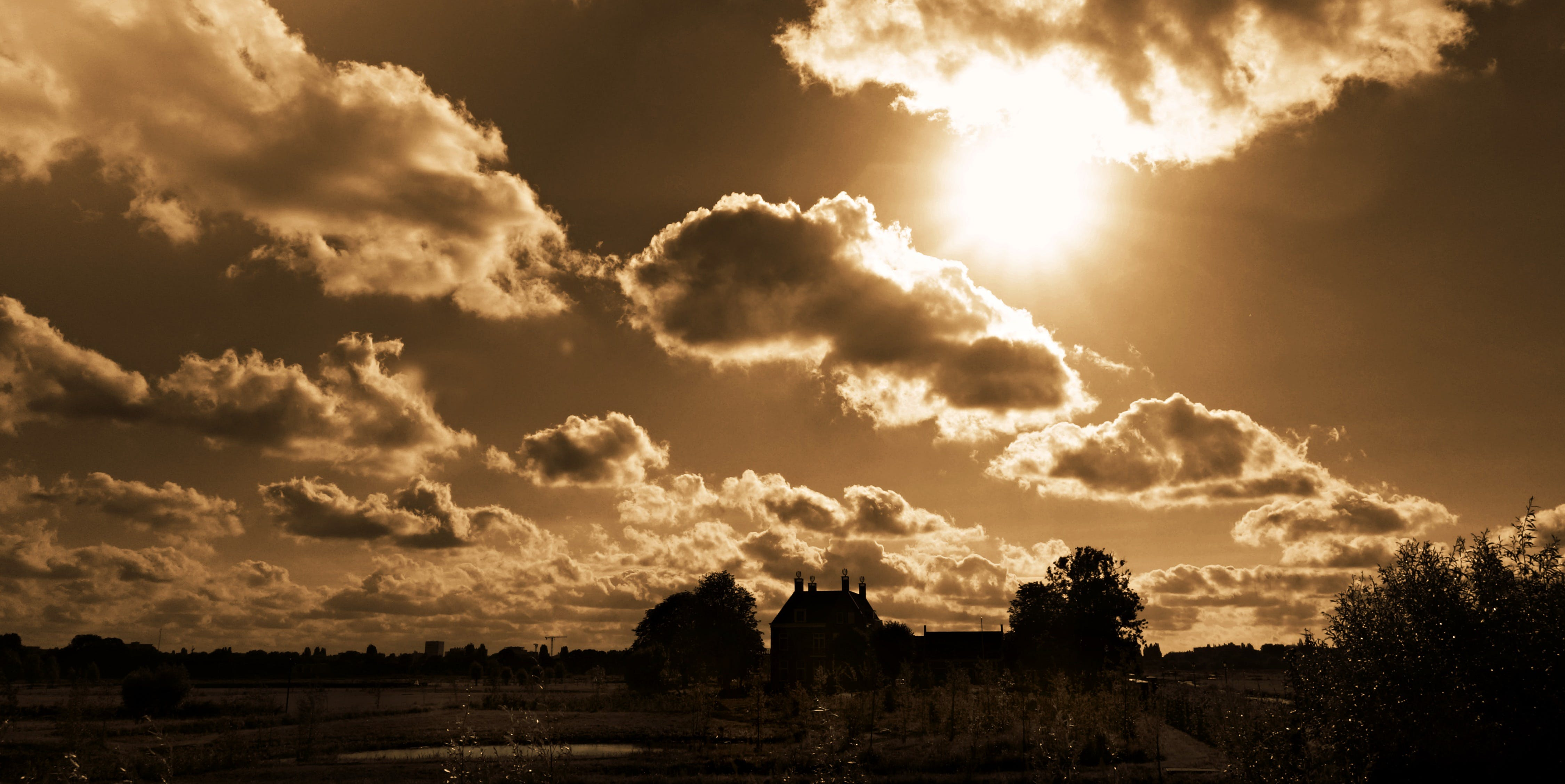 Free stock photo of landscape, sky, clouds, sun