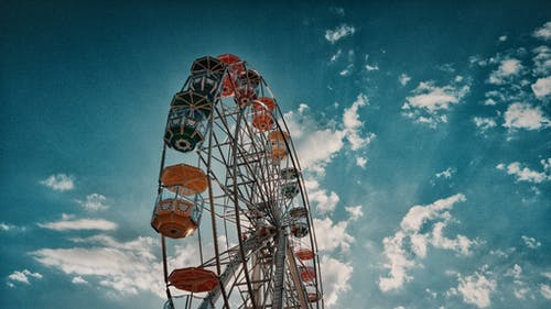 Gray and Brown Ferris Wheel