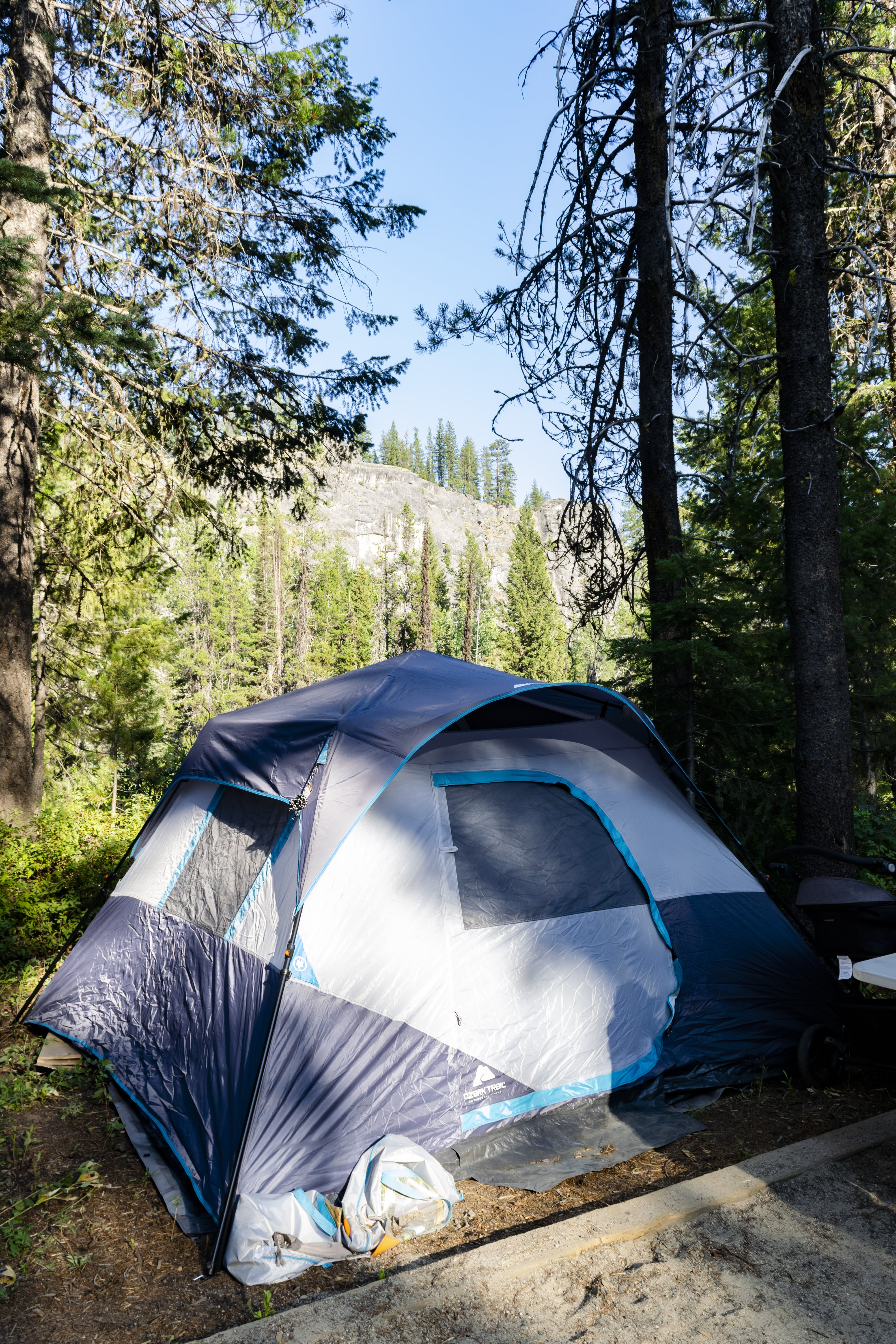 Free stock photo of blue, blue sky, camp, camping