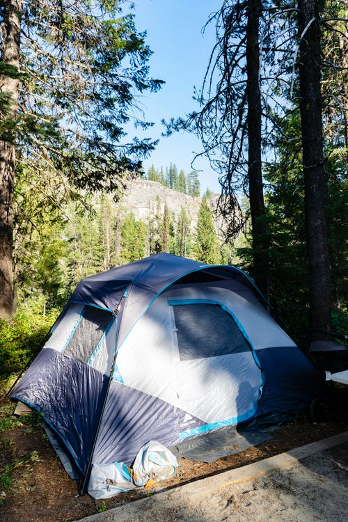 Free stock photo of blue, blue sky, camp