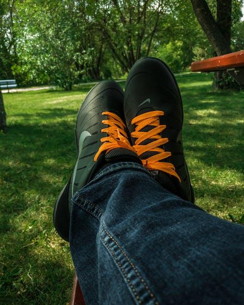 Free stock photo of laces, nike, orange