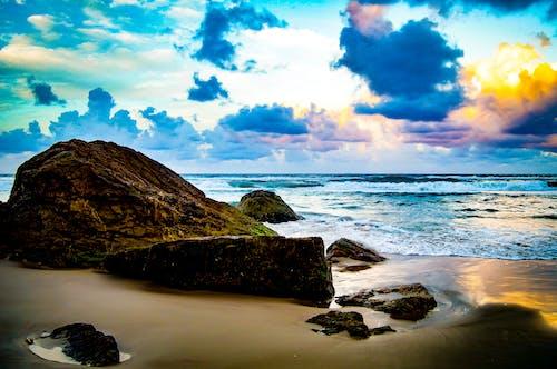Kostnadsfri bild av guldkusten, solnedgång, strand