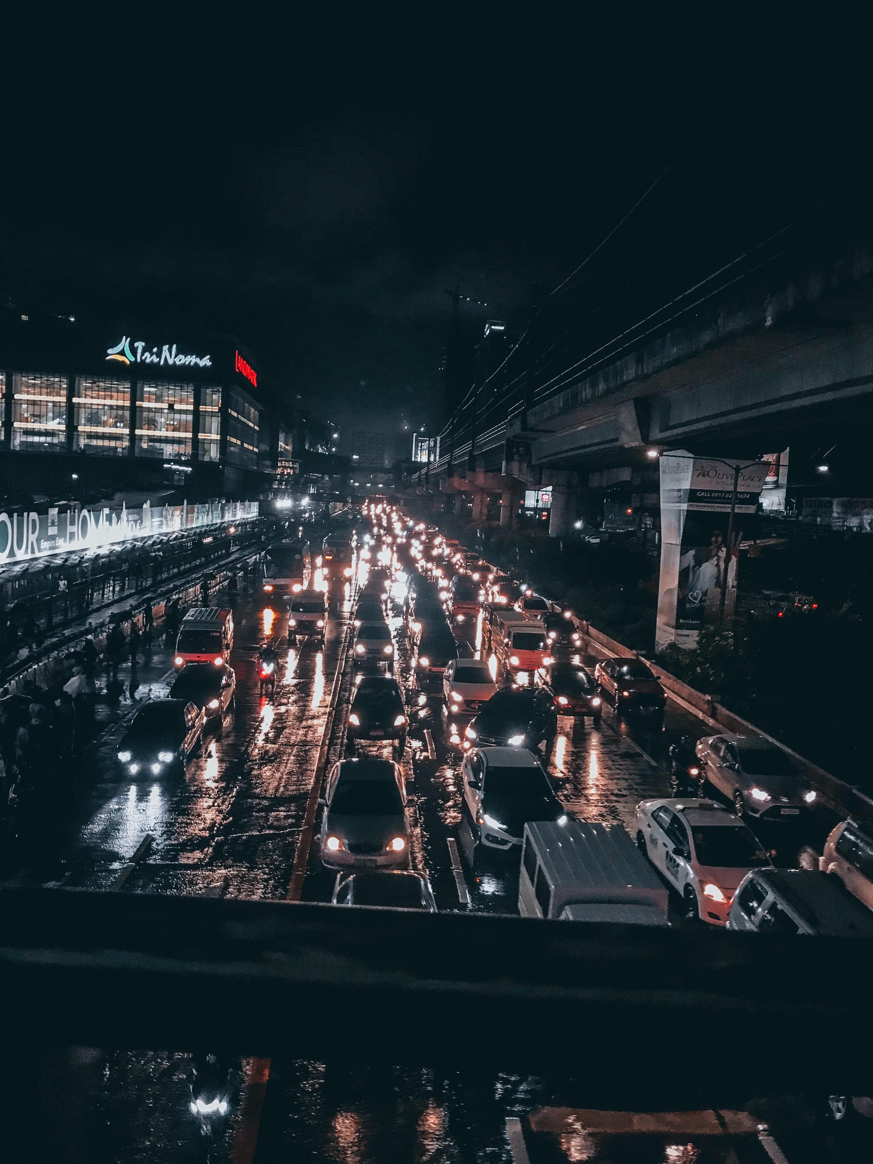 Free stock photo of car, car lights, traffic