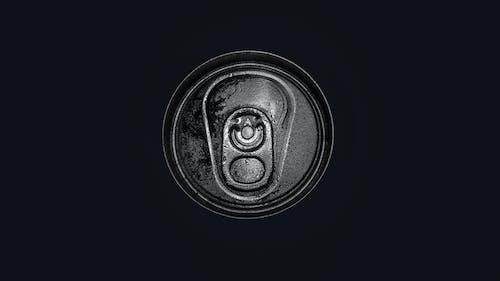 #can #opener #shape #texture #circle #cap #black, #white # 흑백의 무료 스톡 사진