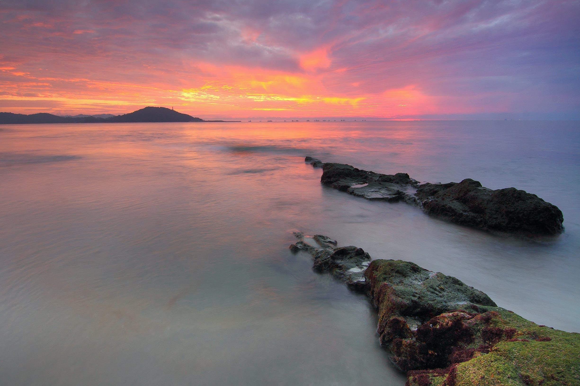 bulutlar, deniz, deniz manzarası, doğa içeren Ücretsiz stok fotoğraf