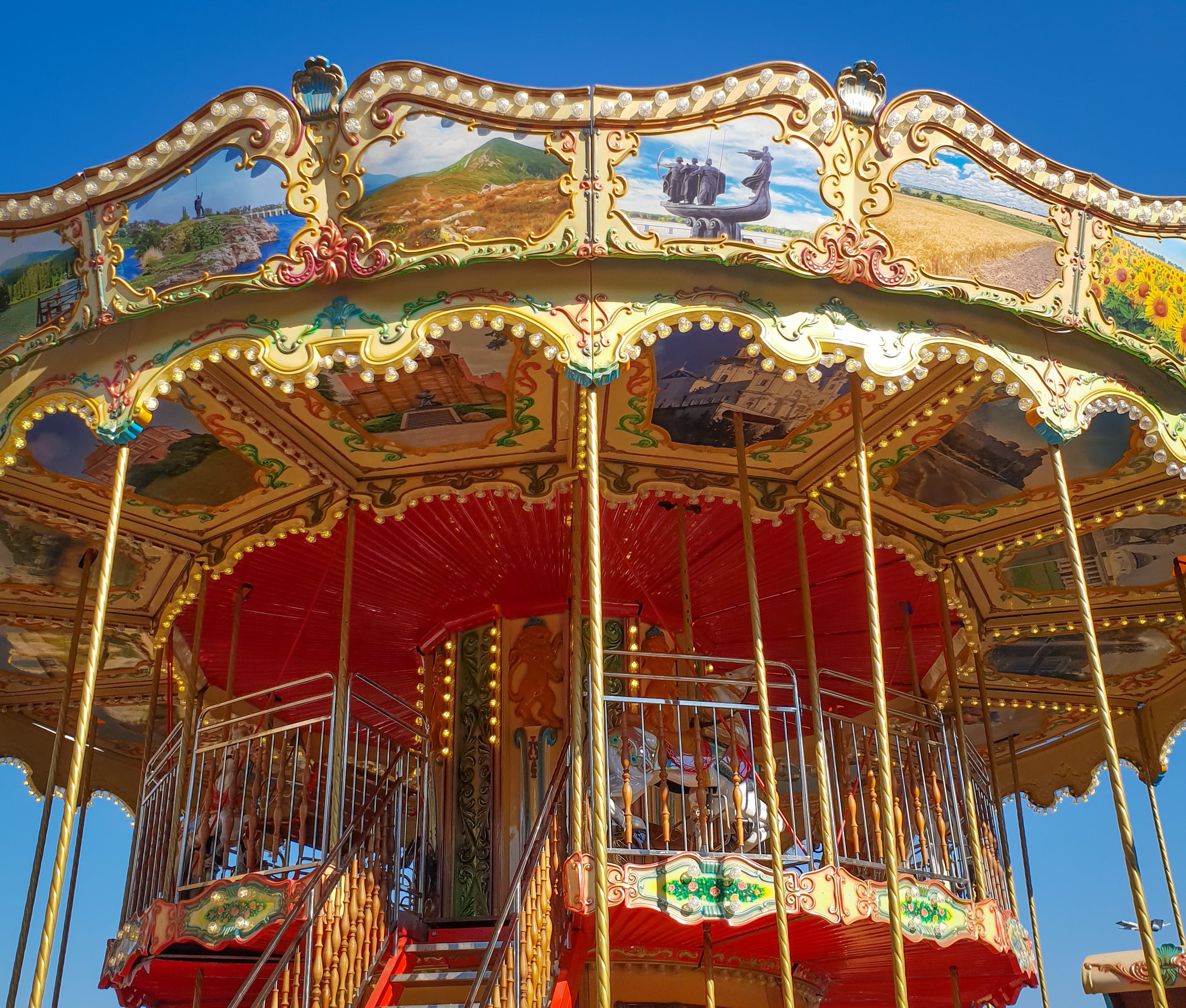 Free stock photo of carousel, colourful, kids, play