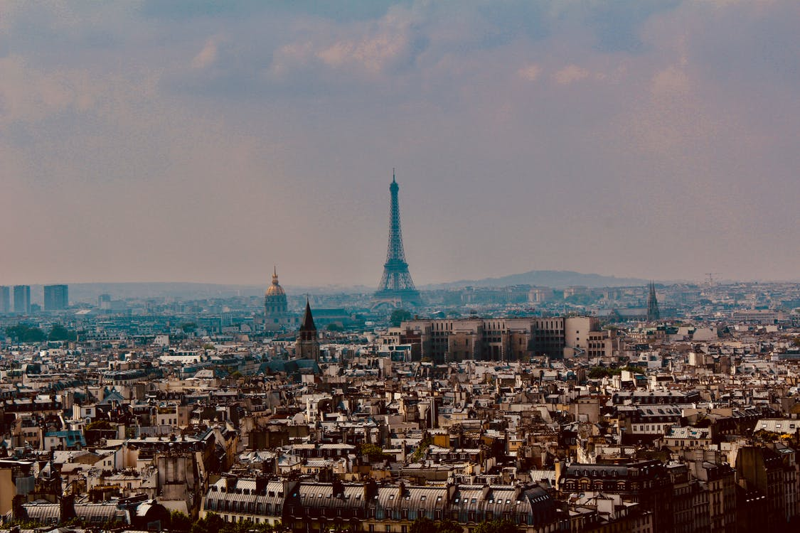 Vista Aerea Della Torre Eiffel