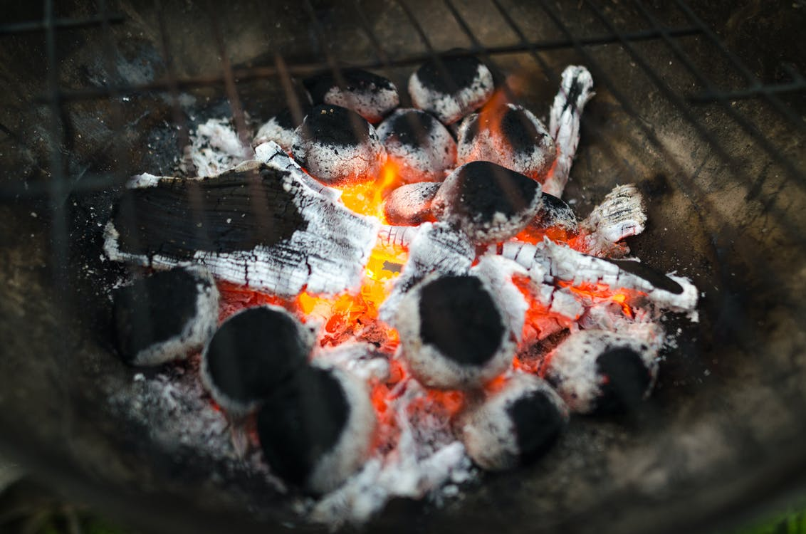 Selective Focus Photography of Burnt Charcoal