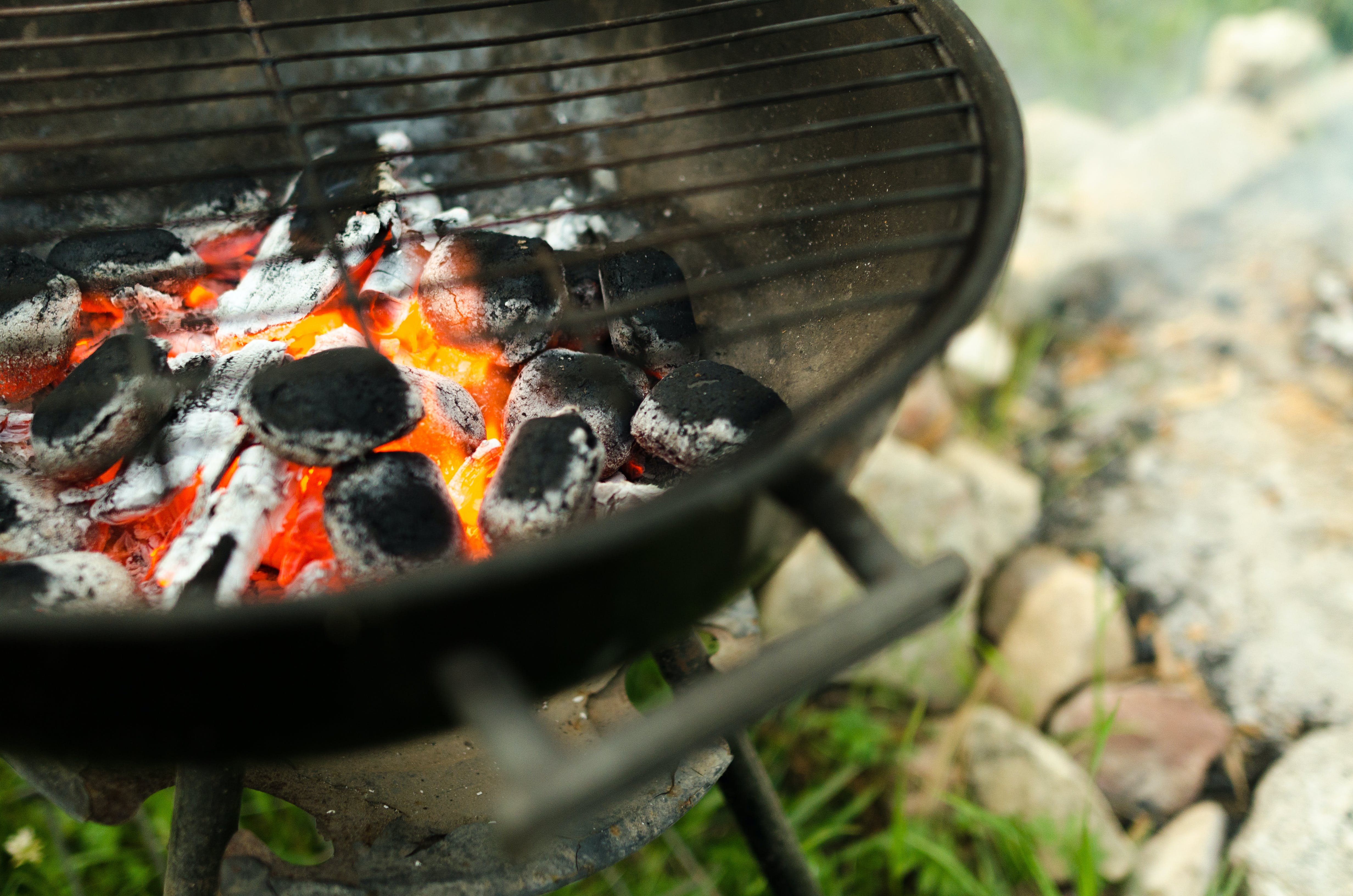 Shallow Focus Photography of Burning Charcoals